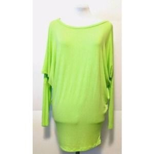 Leshop Batwing Tunic Scoop Neck Stretch Rayon